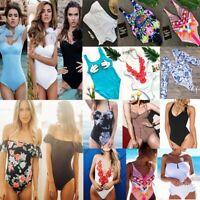 Women One-Piece Swimsuit Swimwear Push-up Monokini Bikini Bathing Suit Beachwear