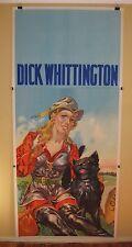 DICK WHITTINGTON World War II era original vintage English theatre poster cat