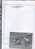 565208 / Motorrad Beleg Autogramm Hans Georg Anscheidt