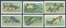 DDR  MiNr 3095-3100, Süsswasserfische, postfr.,  1987