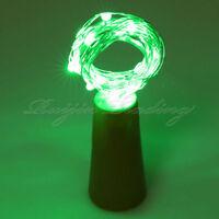 10 15 20 LED Copper Wire Wine Bottle Cork Solar Power Micro Fairy String Light