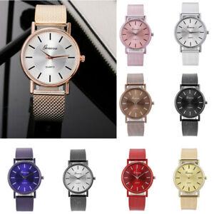 10 Colors Luxury Mesh Bracelet Band Wrist Watch Quartz Analog Stainless Steel