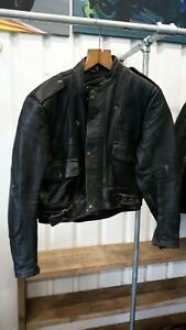 "Ex Police Heavy Leather Jacket 42"""