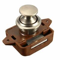1X Latch Knob Push Button Catch Lock Cupboard Door Motorhome Cabinet Camper RV