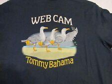 TOMMY BAHAMA Short Sleeve T-Shirt WEB CAM sz M NWT $49.50 NAVY BLUE