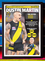 ✺Framed✺ 2020 RICHMOND TIGERS AFL Premiers Poster DUSTIN MARTIN - 45 x 32 x 3cm