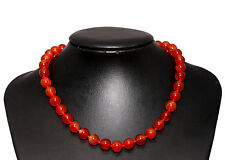 Red Agate Stone Necklace Choker Length-45cm Rhodium Plated Hook Extender