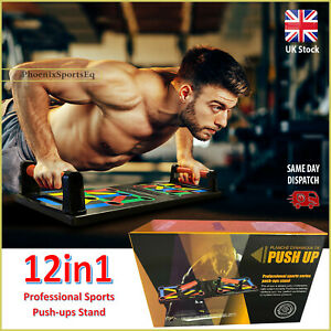 12 in1 Push Up Rack Board Fitness Workout Training Gym Exercise Pushup Stand UK