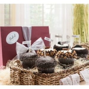 Dulcet Gift Baskets Chocolate Cupcake Sampler Gift Box -6 Count.