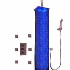 "Bathroom Led Shower Head Ceiling Rainfall 6 Options 12"" Oil Rubbed Bronze"