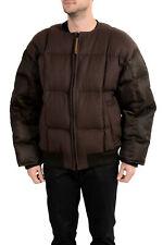 "Hugo Boss Men's ""Blacksky_FS"" Brown Wool Cashmere Down Parka Jacket US S IT 48"