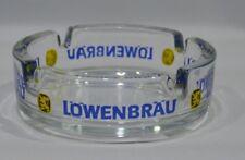 LOWENBRAU BIERE cendrier verre transparent NEUF
