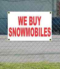 2x3 WE BUY SNOWMOBILES Red & White Banner Sign NEW Discount Size & Price
