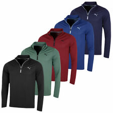 Puma Golf Mens Evoknit Essential 1/4 Zip DryCELL Pullover 44% OFF RRP