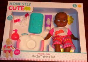 "Honestly Cute POTTY TRAINING Set & 14"" Doll New"