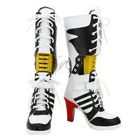 Batman Harley Quinn Cosplay Shoes high heel Boots
