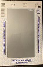 Microscale Decals - HO Scale - TF-4 - Trim Film Silver - FS 17878