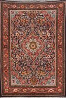 Vintage Floral Tebriz Hand-knotted Area Rug Home Decor Oriental Wool 4x5 Carpet
