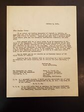 Letter addressed to Senator Tobey of New Hampshire from James C.Powell 1940