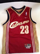 NBA JERSEY CLEVELAND CAVALIERS LEBRON JAMES Nike KIDS SIZE SMALL VTG  Rookie
