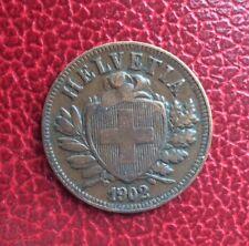 Suisse - Très Jolie et Rare monnaie de  2 Rappen  1902