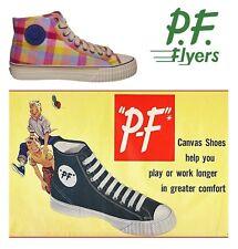 PF Flyers high top sneaker, Zest plaid madras *RARE* men's 10.5/ women's 12, NIB