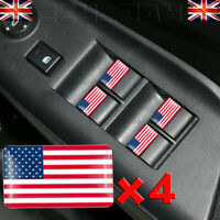 Drapeau USA Logo x4 Stickers Américain Direction Badge pour Chevrolet Ford