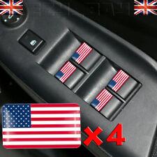 USA Flag Logo x4 Stickers American Steering Wheel Badge CHEVROLET FORD CHRYSLER