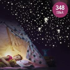 """Wandkings """"Feen mit Herzen, Sternen, Schmetterlingen"""" Wandsticker / 348 Sticker"""