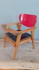 Fauteuil pot vintage pour petit enfant en bois Années 50 style scandinave!!