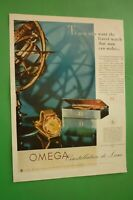 1954 Original Advertising' Watch Omega Constellation De Luxe To Men Who Want