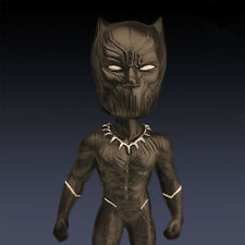 "7"" Black Panther Action Figure Statue Toy The Avengers Bobble Head Resin Doll"