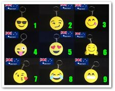 Emoji Face Expression Love Eyes Wink Eyes PVC Silicone Keyring Cartoon Bag Tag