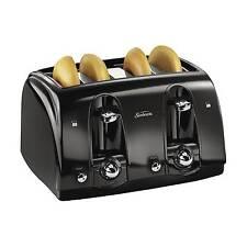 Sunbeam® 4-Slice Extra-Wide Slot Toaster, Black, TSSBTR4SBK