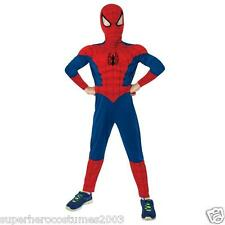 Ultimate Spider-Man Muscle Deluxe Costume Size Large 12-14 NWT Rubies 620010
