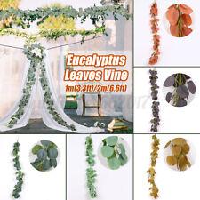 Artificial Eucalyptus Vine Green Leaf Rattan for Wedding Party Home Garde