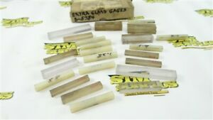"""LOT OF 26 ASSORTED GAGE BLOCKS + GLASS BLOCKS .3021"""" TO .6335"""""""