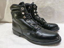 JUSTIN BLACK LEATHER COWBOY CASUAL WORK WOMENS BOOTS 400 6M CLASSIC LARER ROPER
