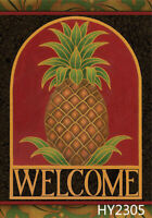 Tropical Fruit Pineapple Garden Flag House Yard Lawn Welcome Decoration Banner
