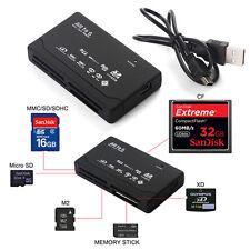 Alle in 1 Externer Speicherkartenleser USB Kabel für Micro SD SDHC XD MMC M2 MS