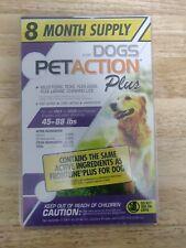 PetAction Plus Flea & Tick Large Dogs 45 - 88 lbs 8 Month Value Pack Pet Action