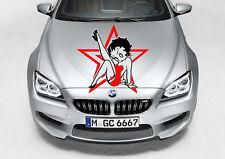 BETTY BOOP STAR DECAL VINYL GRAPHIC HOOD CAR TRUCK