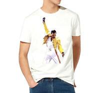 T shirt homme Queen freddie mercury Rock star 100% coton Haute qualité blanc