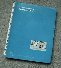 Tektronix TYPE 533-533A Original Service Manual all Schematic, Parts: 070-258