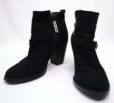 Ivanka Trump Women's Black Frankly Suede Zip Up Ankle Heeled Boots Size 6M