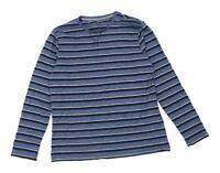 F&F Mens Size L Cotton Blend Striped Blue Long Sleeve T-Shirt