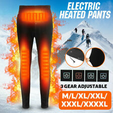 USB Men  Electric Heated Warm Pants Winter Warmer Heating Trousers Elastic L-4XL