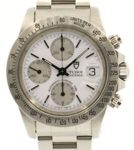 Vintage TUDOR OysterDate Chronograph Stainless Steel ALBINO Watch Ref: 79180