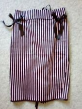 Cotton Knee-Length Striped Skirts for Women