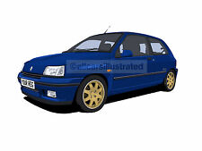 RENAULT CLIO WILLIAMS CAR ART PRINT. PERSONALISE IT!
